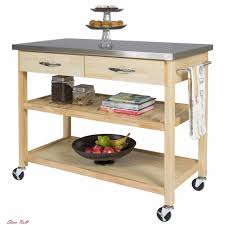 kitchen islands with stainless steel tops bcp wood kitchen island utility cart with stainless steel