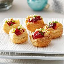 canape cups recipes brie cherry pastry cups recipe taste of home