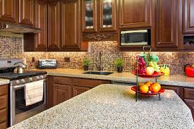 granite countertops material using in modern kitchen style