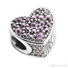 sterling silver heart bead bracelet images 2018 pandulaso pink dazzling heart pink cz beads fit pandora jpg