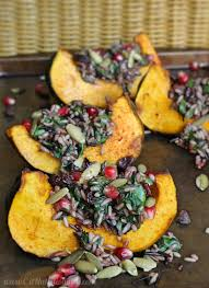 wild rice thanksgiving side dish wild rice and acorn squash wedge salad c it nutritionally