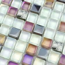 Backsplash Tile Cheap by Crystal Glass Mosaic Sheet Wall Stickers Kitchen Backsplash Tile