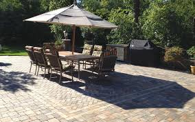 exterior interesting outdoor dining room decoration using brown