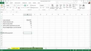 how to calculate monthly loan payments spreadsheets for finance how to calculate loan payments youtube