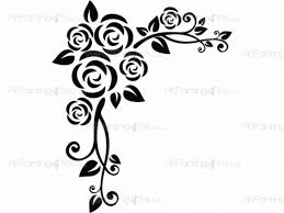 abstract rose wall decals vdf1080en artpainting4you eu abstract rose florals wall decals