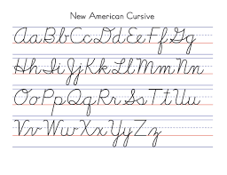 new american cursive handwriting simpler and fewer strokes than