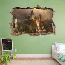 amazon com hogwarts harry potter smashed wall decal wall sticker amazon com hogwarts harry potter smashed wall decal wall sticker art mural h327 large home kitchen