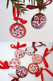 felt ornaments embroidered with traditional matyó hungarian