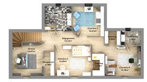 plan maison etage 4 chambres 1 bureau plans de maisons constructeur maison laure