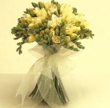How To Make Wedding Bouquet How To Make A Freesia Wedding Bouquet