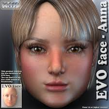 3dream by Evo Face Anna 3d Figure Assets 3dream