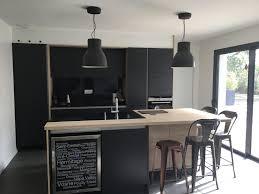cuisine blanc mat sans poign la vrai cuisine en laque mate graphite sans poignée plan de travail