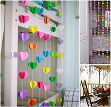 birthday decoration at home for kids new 3d paper garland for baby shower children kids birthday party