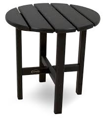 Patio Side Tables Polywood Rst18bl 18 Side Table Black Patio