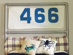 nautical headboard make a headboard from pvc pipes and an old sail how tos diy