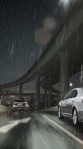 lexus nx muzyka z reklamy samochód lexus ls ue droga deszcz noc