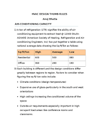 heating ventilating and air conditioning analysis and design hvac design thumb rules air conditioning hvac