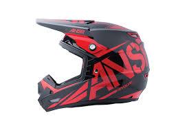 motocross helmet answer new mx 2017 ansr evolve 3 dirt bike black red motocross