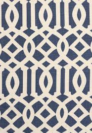 174411 imperial trellis ii ivory navy by fschumacher fabric