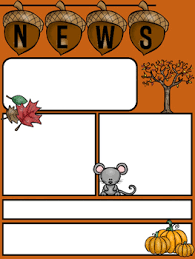 editable newsletter template for fall 2 pages color bwhappy