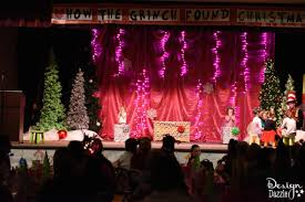 Stage Decoration For Christmas Party by How To Do A Church Christmas Grinch Party On A Budget Design Dazzle