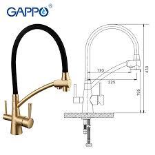 kitchen faucet water purifier aliexpress com buy gappo water filter taps kitchen faucet mixer