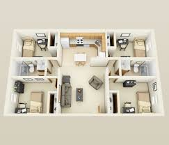 4 Bedroom Floor Plans For A House 50 Four U201c4 U201d Bedroom Apartment House Plans Formal Dining Rooms