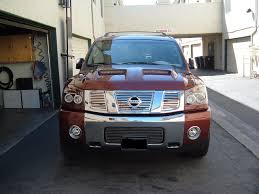 nissan armada knoxville tn ram air hood painted and installed nissan titan forum