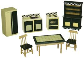 melissa u0026 doug doll house kitchen furniture set of 7 buttery