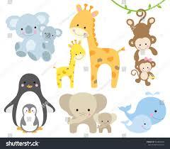 vector illustration animal baby including koalas stock vector