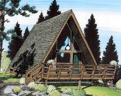 a frame house plans house plan 43048 a frame cabin contemporary vacation plan with