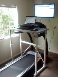 Desk Treadmill Diy This One Seems To Be The Best Idea Diy Pvc Ikea Treadmill Desk