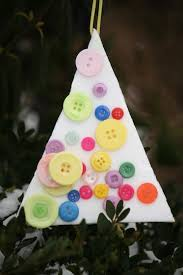 easy styrofoam and button tree ornaments happy hooligans