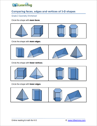 2nd grade geometry worksheets k5 learning