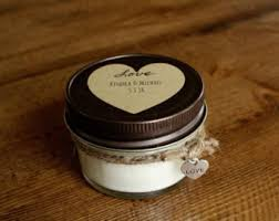 candle favors candle wedding favor etsy