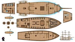 ship floor plans pirate ship deck plans the ground beneath her feet