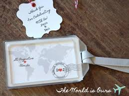 wedding favor luggage tags 97 best luggage tag wedding favors images on luggage