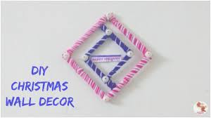 Christmas Wall Pictures by Diy Christmas Wall Decor Christmas Decoration Ideas 2 Youtube