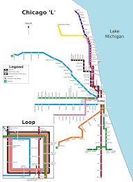 Redline Chicago Map by Red Line Chicago Transit Authority