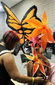 hair show themes outrageous styles at international hair show