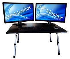 stand up desk multiple monitors amazon com executive stand steady standing desk stand up desk