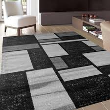 Area Rugs Contemporary Modern Contemporary Modern Boxes Grey Area Rug 7 10 X 10 2 8 X 10