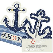 Anchor Decorations For Baby Shower Ahoy Nautical Baby Shower Decorations U0026 Theme Babyshowerstuff Com