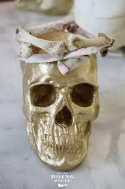 halloween bone craft make a crown wreath or pile with chicken
