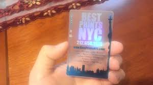 best prints nyc holographic and metallic translucent business card