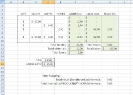 Building Construction Estimate Spreadsheet Excel Estimating With Excel On Estimating