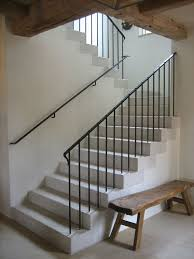 iron railing stairs interior metal stair railing clairelevy