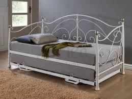Single Metal Day Bed Frame Birlea 3ft Single Metal Day Bed Frame With Trundle By