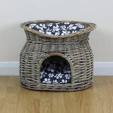 Dog Igloos Two Tier Pet Bed Basket For Cat Puppy Small Dog Igloo Wicker House