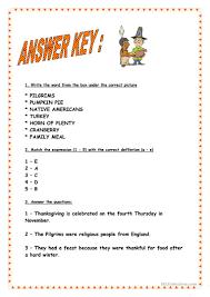 Fun Thanksgiving Questions Thanksgiving Short History U0026 Vocabulary Worksheet Free Esl